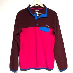 Color Block Patagonia 'synchilla' fleece pullover